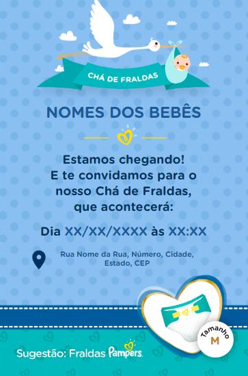 Ganhe Convites Para Cha De Fraldas Com A Pampers Blog Sweet Bonus