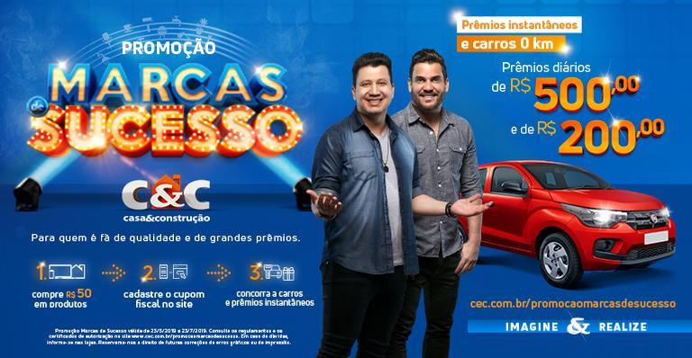 Promoção C&C: um carro 0km e prêmios diários em dinheiro!