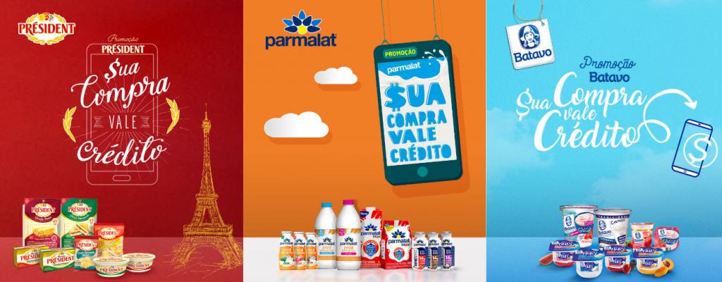 Vale Crédito para celular: Batavo, Parmalat e Président
