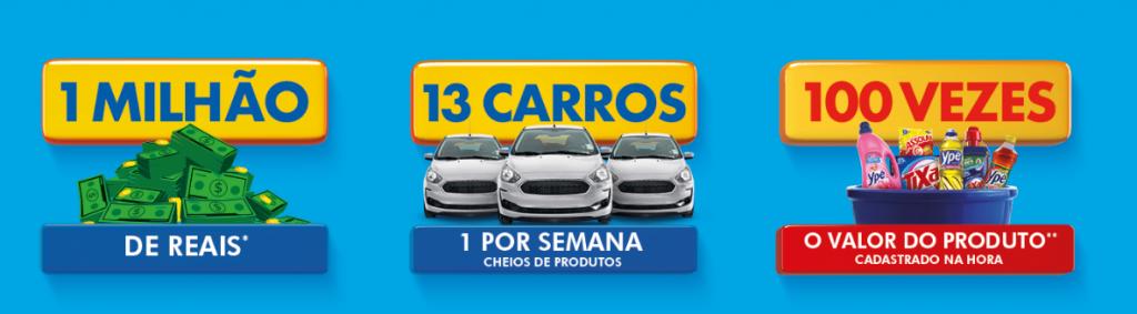 Promoção Caldeirão Ypê: concorra a 13 carros + prêmios em dinheiro