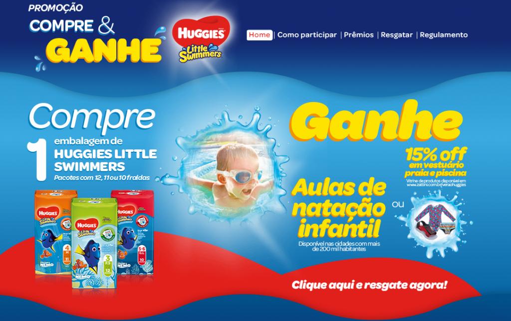 Promoção Huggies Verão: ganhe aulas de natação para seu filho!